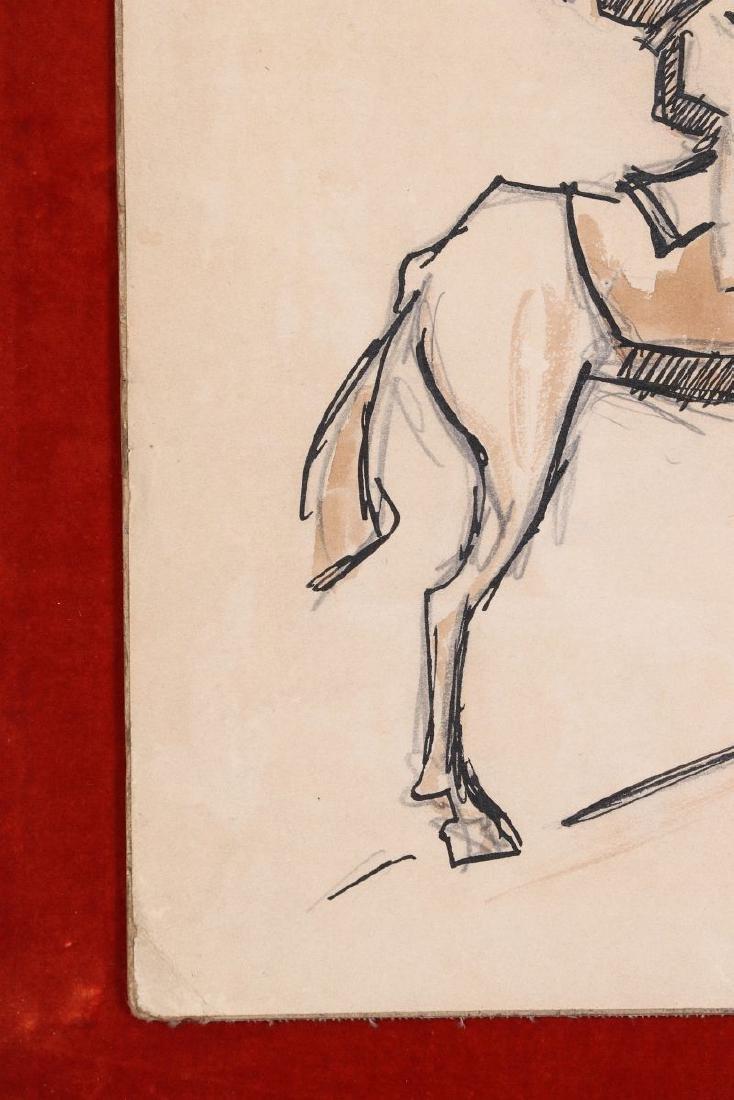 THOMAS HART BENTON (1889-1975) INK WASH C. 1930s - 7