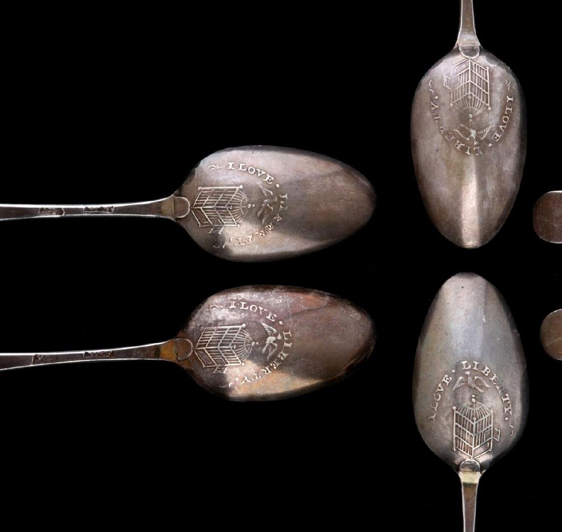 REPRODUCTION 'I LOVE LIBERTY' PICTURE BACK SPOONS - 2