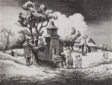 THOMAS HART BENTON 18891975 PENCIL SIGNED LITHO