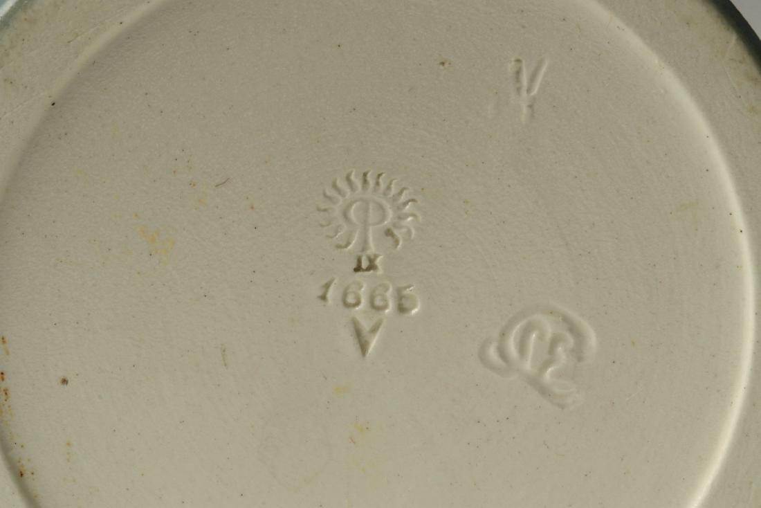 A 12-INCH ROOKWOOD VELLUM VASE SIGNED COYNE 1909 - 10