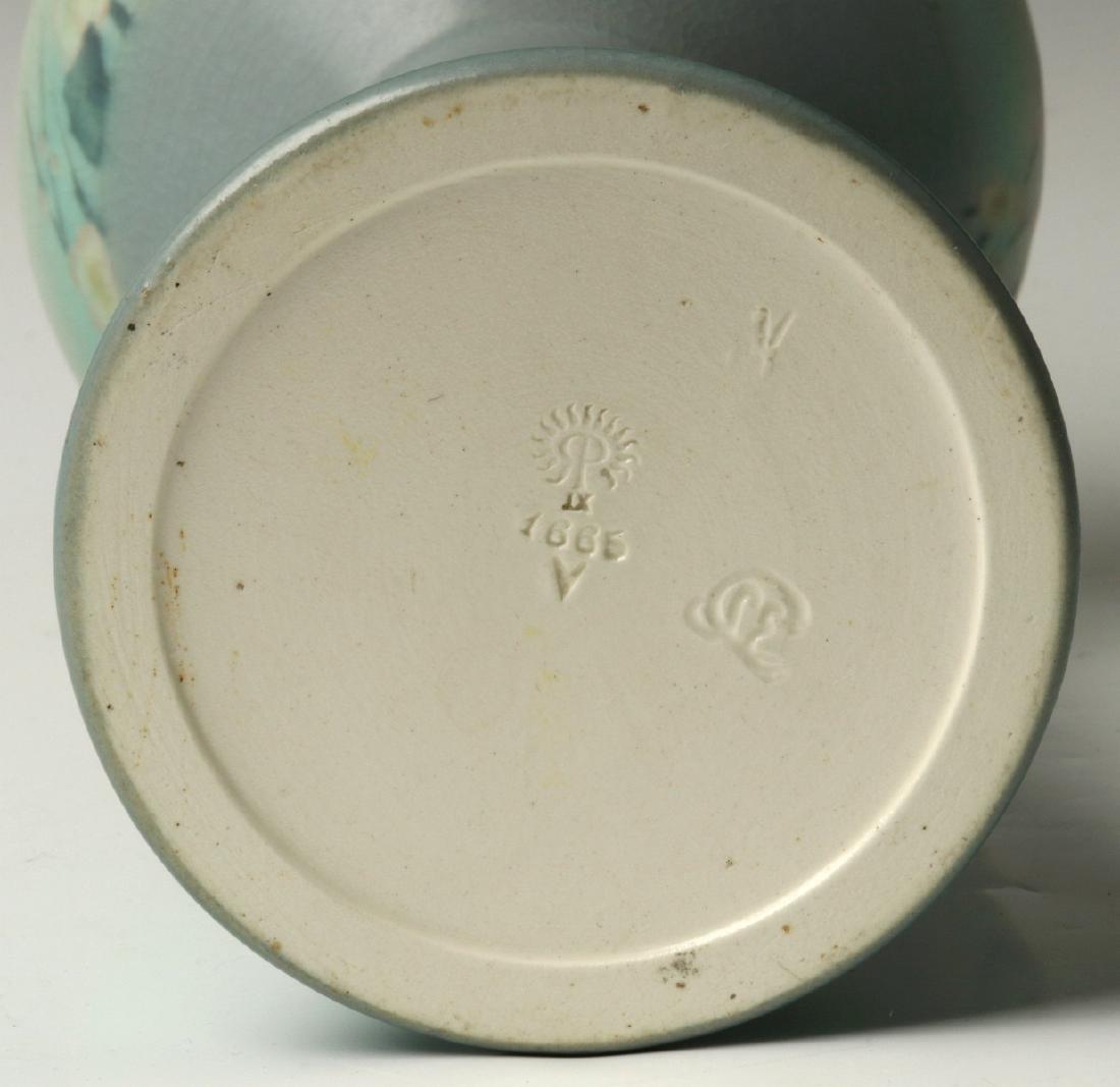 A 12-INCH ROOKWOOD VELLUM VASE SIGNED COYNE 1909 - 9