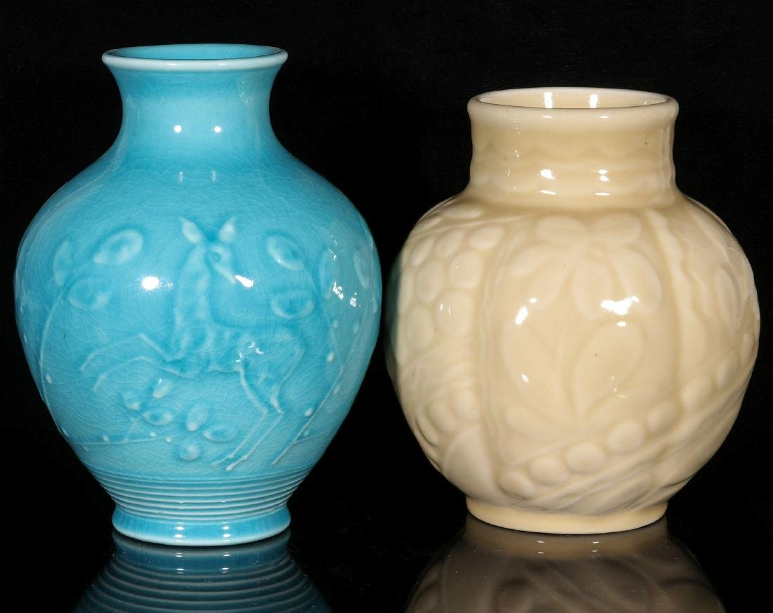 TWO 1945 ROOKWOOD ART POTTERY VASES