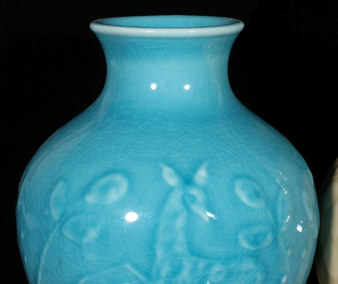 TWO 1945 ROOKWOOD ART POTTERY VASES - 2