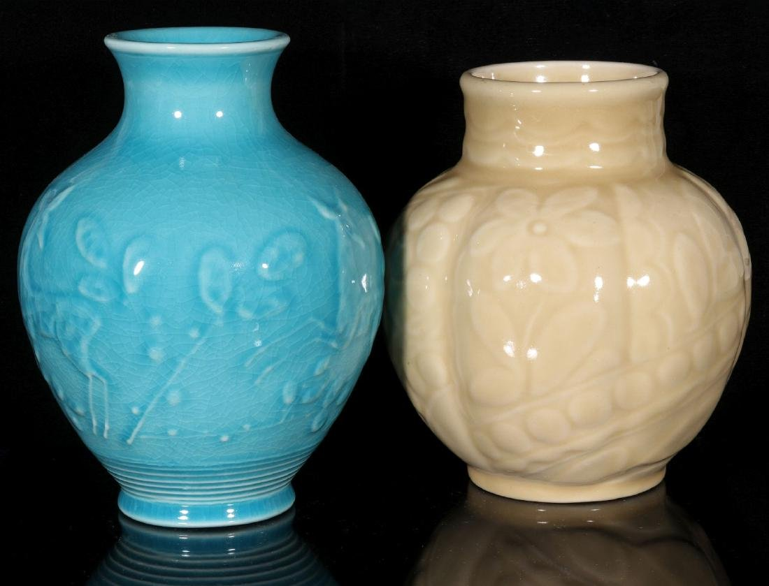 TWO 1945 ROOKWOOD ART POTTERY VASES - 7