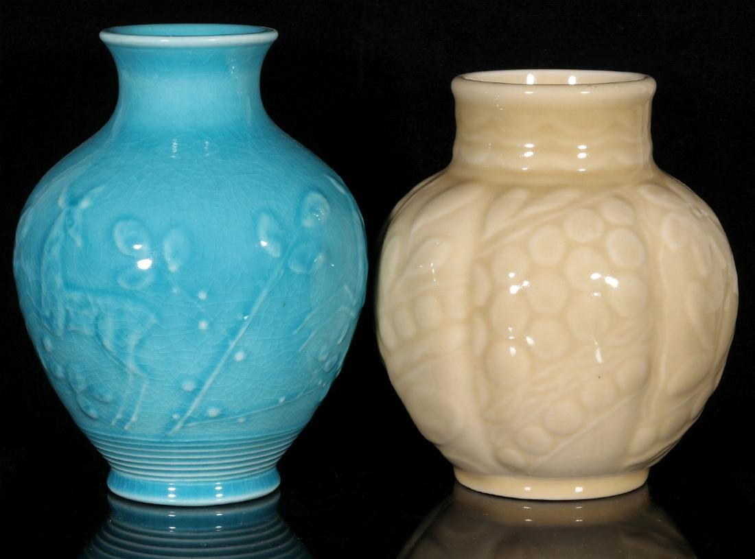 TWO 1945 ROOKWOOD ART POTTERY VASES - 8