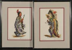 PAIR OF CHARLES BANKS WILSON SIGNED COLOR LITHOS