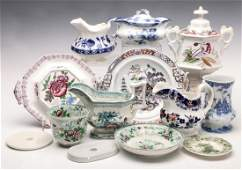 A COLLECTION OF MULTI-COLOR STAFFORDSHIRE TRANSFER