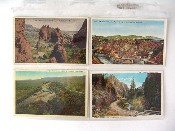 9: 196 EARLY SCENIC POSTCARDS FROM STATES A-C