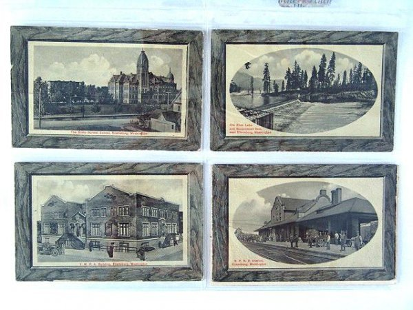 12: 285 EARLY SCENIC POSTCARDS FROM STATES N-W