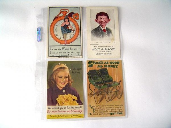 18: BINDER OF EARLY ADVERTISING POSTCARDS
