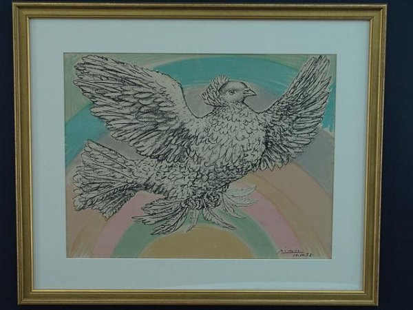 1007: FRAMED COLOR LITHOGRAPH BY PICASSO