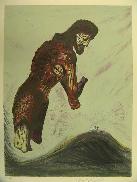 1015: PENCIL SIGNED COLOR LITHOGRAPH BY SIQUEIROS