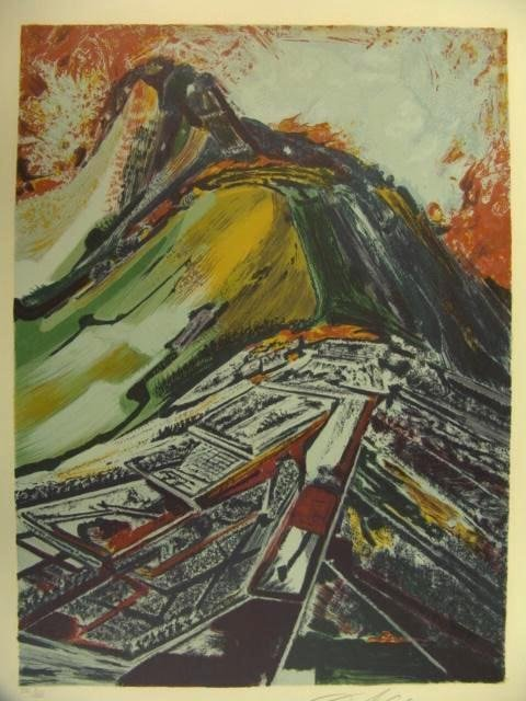 1016: PENCIL SIGNED COLOR LITHOGRAPH BY SIQUEIROS