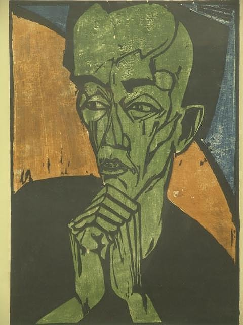 1019: 1963 ERICH HECKEL PENCIL SIGNED EXHIBITION POSTER