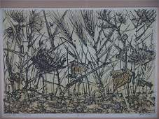 1051: PENCIL SIGNED SCREEN PRINT BY JANET TURNER (1914-
