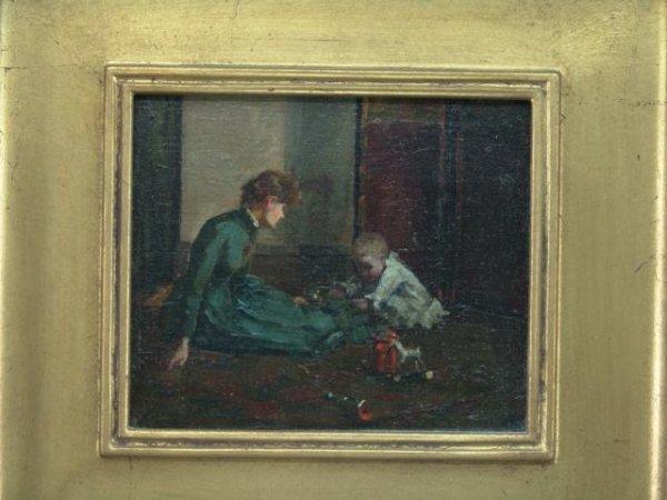 1101: OIL ON BOARD BY ALICE KELLOGG TYLER (1862-1900) I