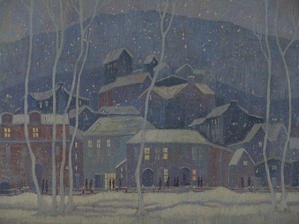 1158: KANSAS ARTIST PAULINE H. SHIRER (1894-1975) OIL O