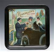 A PRE-PROHIBITION ADVTG TRAY FOR RUHSTALLERS LAGER