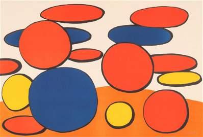 ALEXANDER CALDER (1898-1976) PENCIL SIGNED LITHO