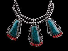 KIRK SMITH (1957-2012) STERLING/TURQUOISE NECKLACE