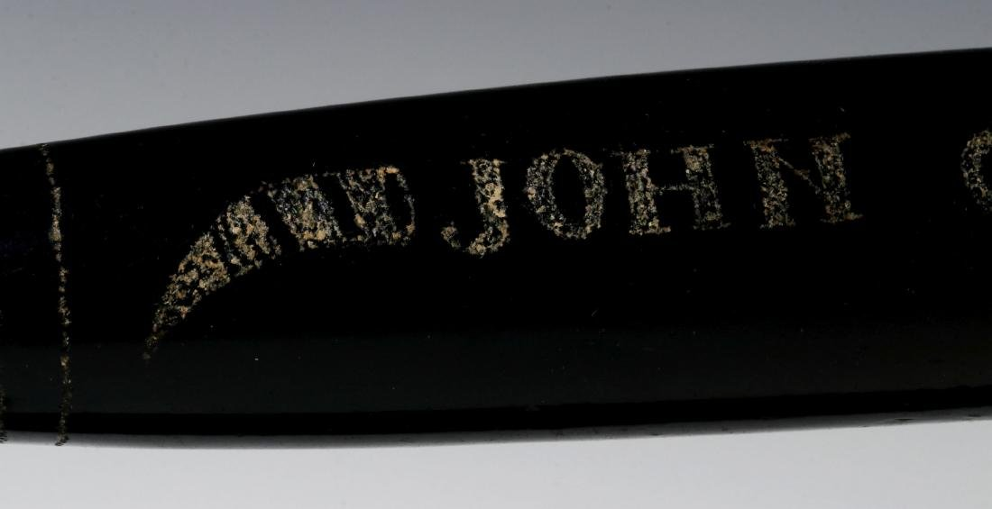 A 19TH CENTURY ENGRAVED BLOWN GLASS ROLLING PIN - 7