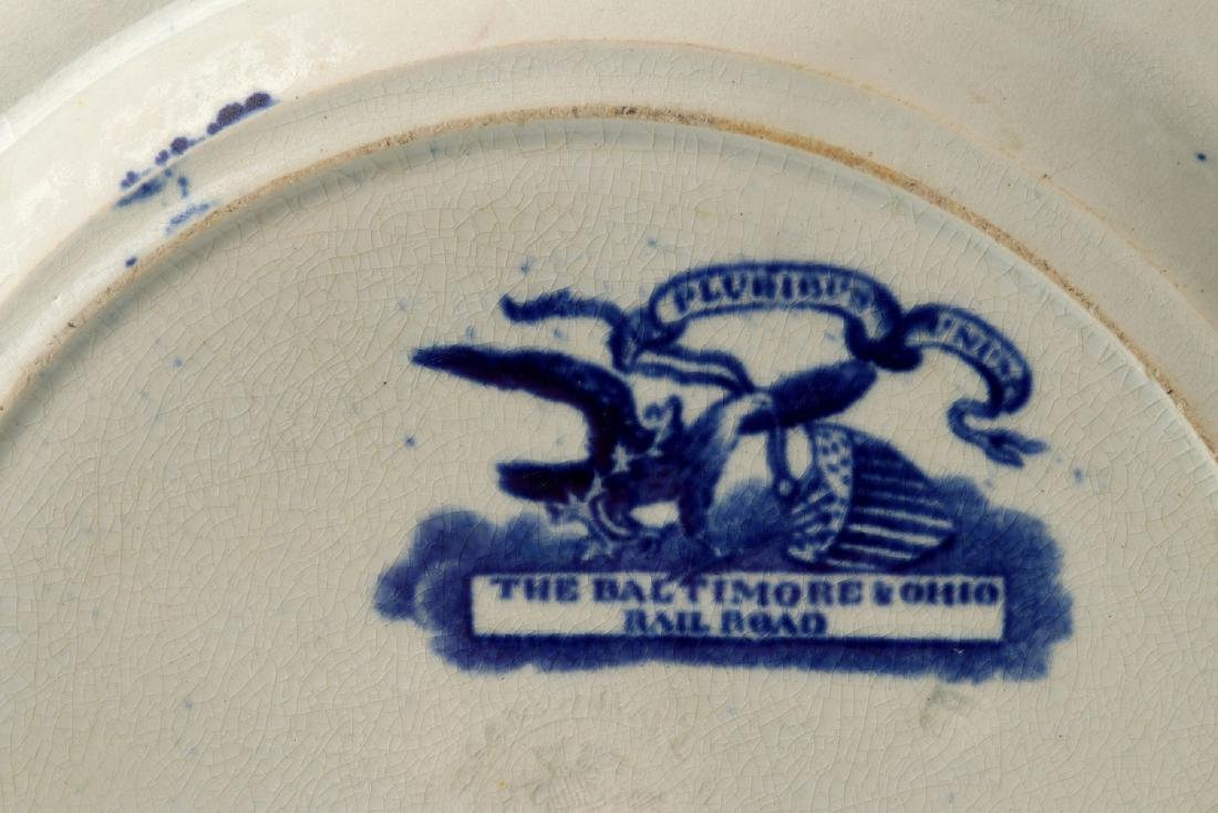 WOOD AND SONS B&O RAILROAD 'INCLINE' DINNER PLATE - 10
