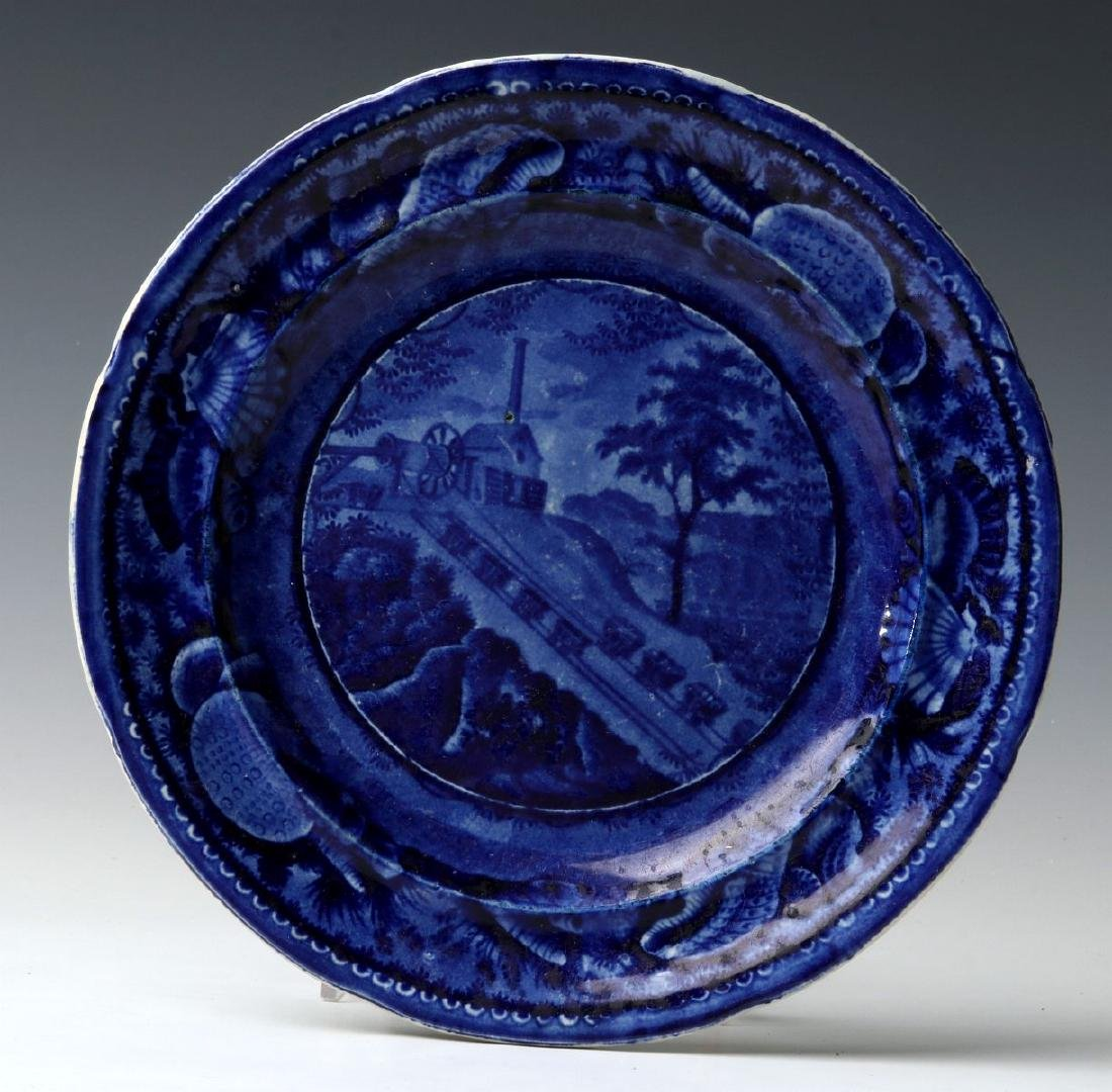 WOOD AND SONS B&O RAILROAD 'INCLINE' DINNER PLATE