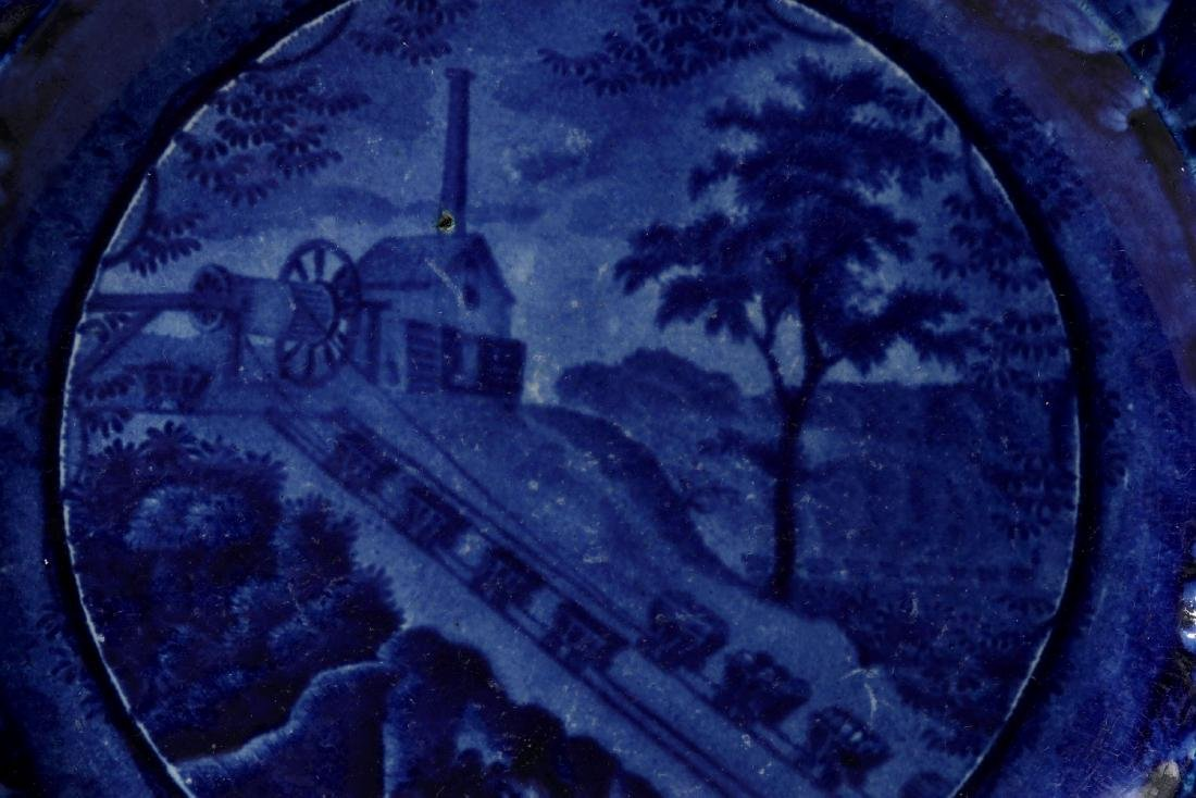 WOOD AND SONS B&O RAILROAD 'INCLINE' DINNER PLATE - 7