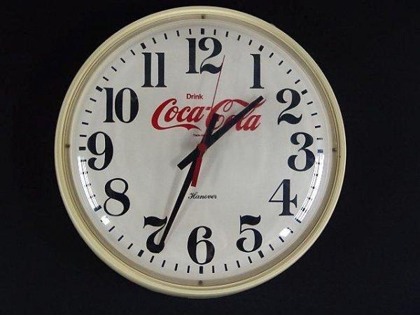 2505: 1980'S OFF WHITE ROUND COCA-COLA CLOCK