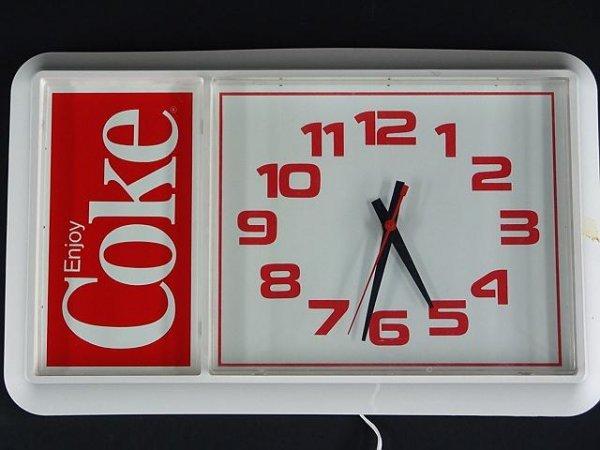 2514: 1980'S WHITE PLASTIC COCA-COLA CLOCK