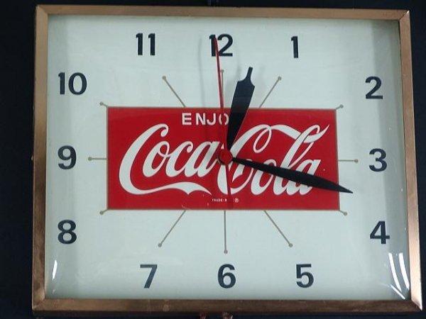 2521: 1960'S COCA-COLA STARBURST CLOCK