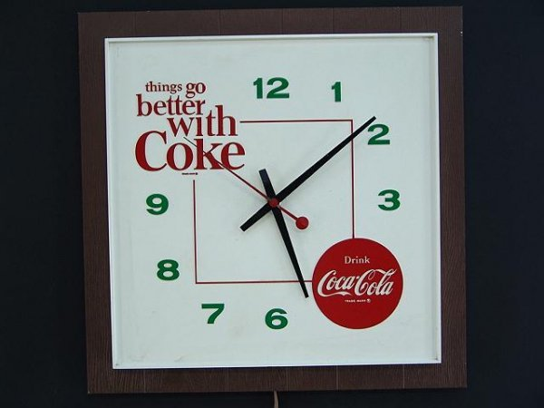2523: 1960'S TGBWC COCA-COLA CLOCK