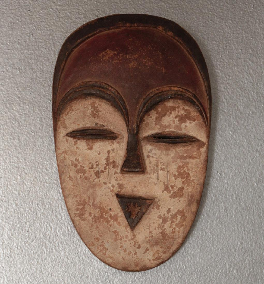 TWO CARVED AND PAINTED AFRICAN MASKS - 3