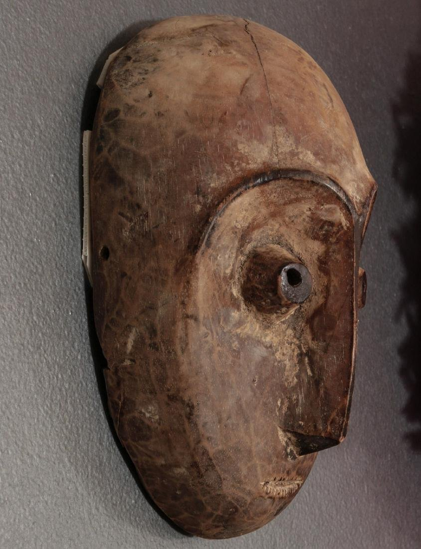 TWO CARVED AND PAINTED AFRICAN MASKS - 4