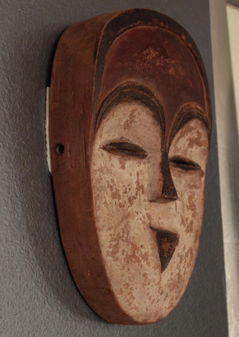 TWO CARVED AND PAINTED AFRICAN MASKS - 5