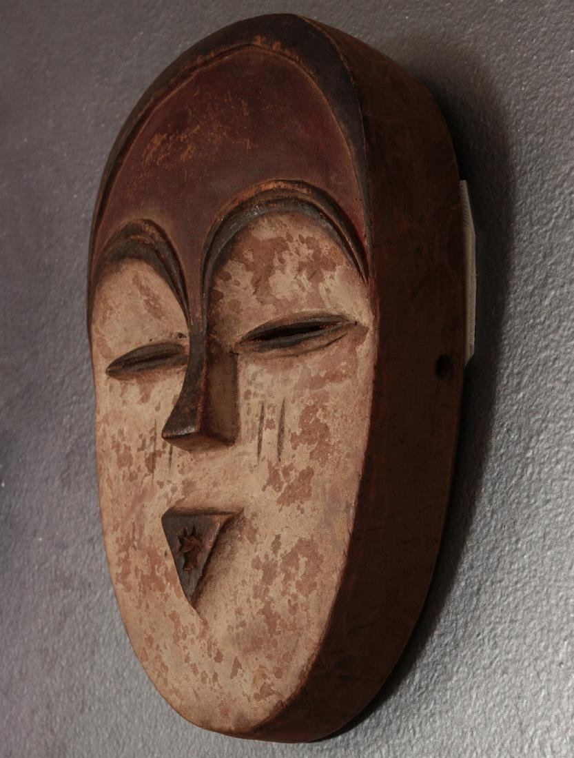 TWO CARVED AND PAINTED AFRICAN MASKS - 6