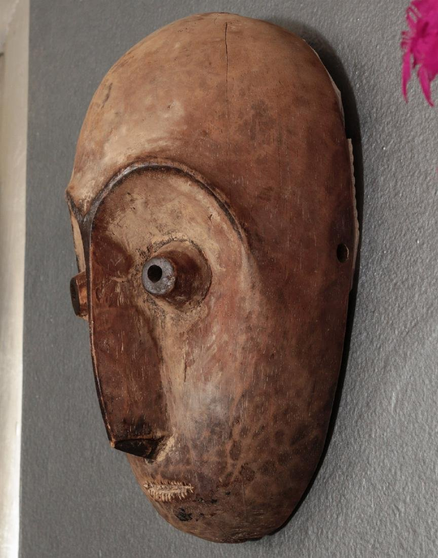 TWO CARVED AND PAINTED AFRICAN MASKS - 7