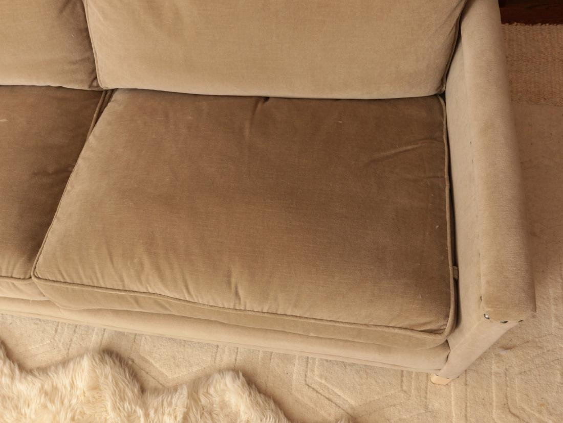 A TWO CUSHION SOFA WITH TACK HEADS - 3
