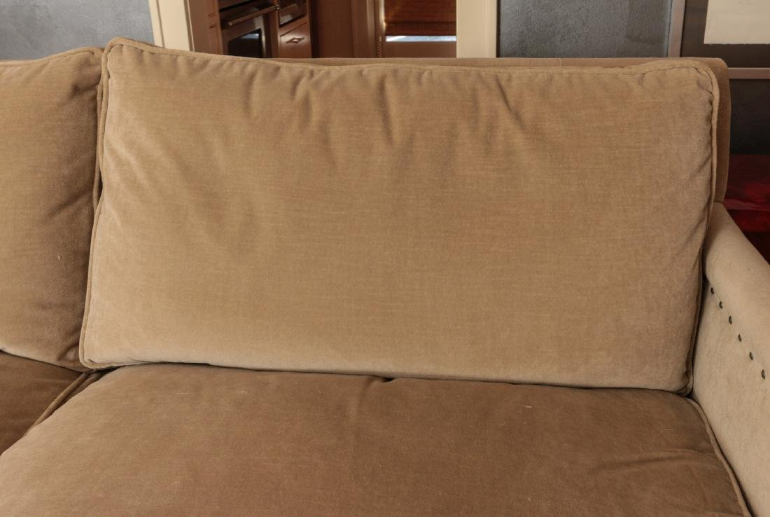 A TWO CUSHION SOFA WITH TACK HEADS - 4