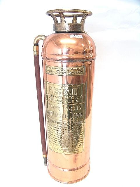 15: W.D. ALLEN MFG. CO. COPPER FIRE EXTINGUISHER