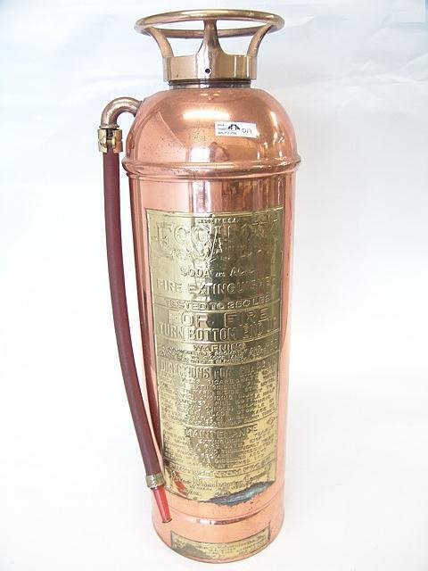 19: ESSANAY SODA AND ACID COPPER FIRE EXTINGUISHER