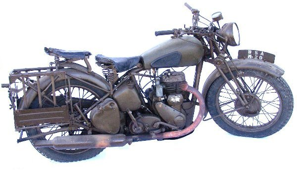 120: 1939 BSA ONE CYLINDER MILITARY MOTORCYCLE