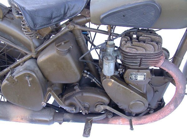 120: 1939 BSA ONE CYLINDER MILITARY MOTORCYCLE - 3