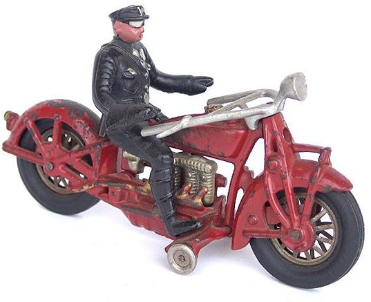 128: HUBLEY FOUR CYLINDER INDIAN ANTIQUE TOY MOTORCYCLE