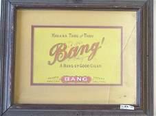 192 BANG EMBOSSED PAPER CIGAR ADVERTISING PIECE