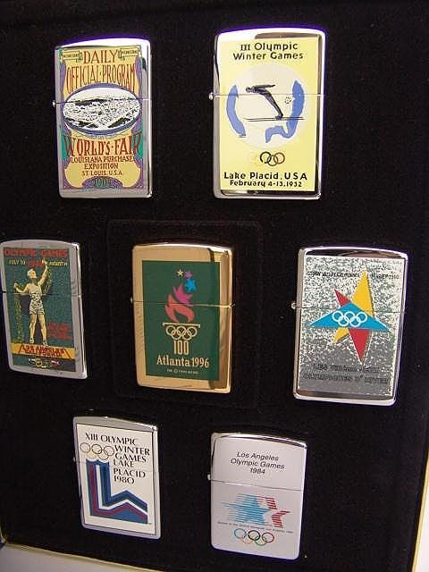 311: BOXED SET OF 7 ZIPPO 1996 OLYMPIC GAMES LIGHTERS