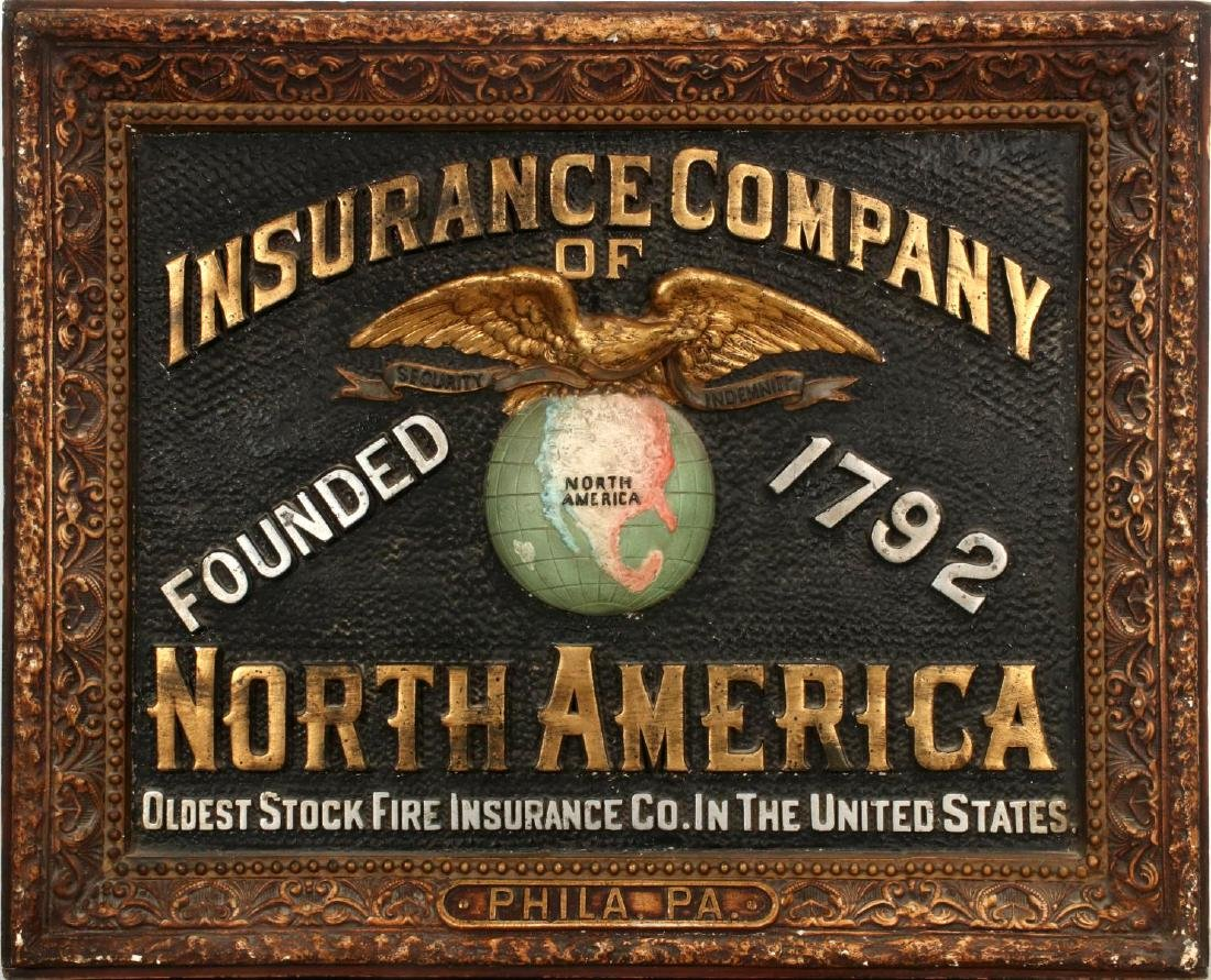 INSURANCE COMPANY NORTH AMERICA SELF FRAMED SIGN