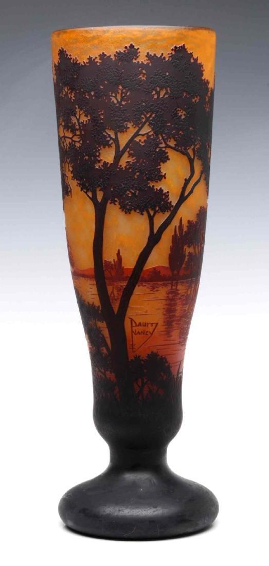 A GOOD DAUM NANCY 20-INCH FRENCH CAMEO GLASS VASE - 10