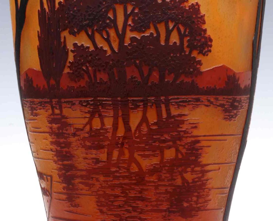 A GOOD DAUM NANCY 20-INCH FRENCH CAMEO GLASS VASE - 5