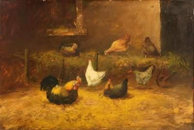 ALFRED MONTGOMERY (1857-1922) OIL ON BOARD